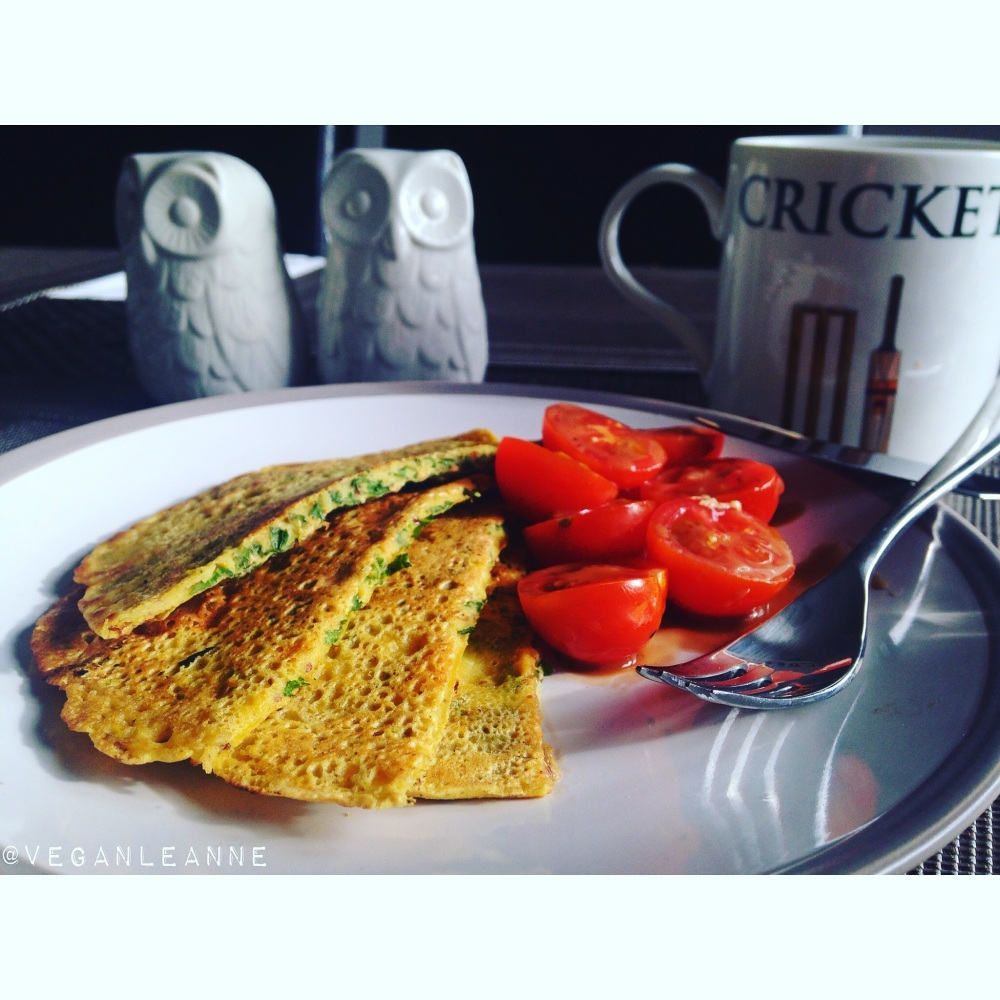 Chickpea omelettes