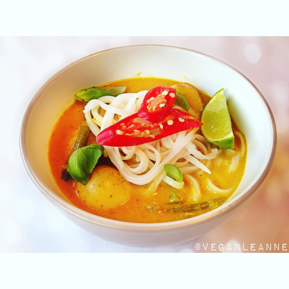 yellow curry and noodles
